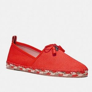 Coach Madison Espadrilles Orange-Red Sz 11
